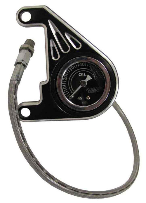 Arlen Ness Oil Pressure Gauge Fits Harley-Davidson® '99 & later Twin Cams. 15-668 - A