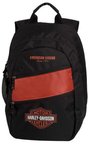 Harley-Davidson® Mens Freedom Backpack BP1945S-ORGBLK
