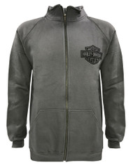 Harley-Davidson® Men's Bar & Shield Track Jacket, Charcooal Zip H-D 30296617