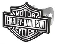 Harley-Davidson® Hitch Cover, Black/White Bar & Shield Logo Hitch Plug 2287