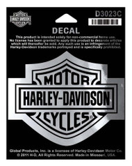 Harley-Davidson® Bar & Shield Chrome Medium Decal, 3-15/16'' W x 3-1/8'' H D3023C