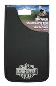 Harley-Davidson® Silver Bar & Shield Logo Easy Fit Mud Guard Black P522