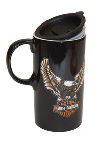 Harley-Davidson® Travel Latte Mug, Bar & Shield Eagle Tall Boy, 21 oz. 3TBT4907 - A