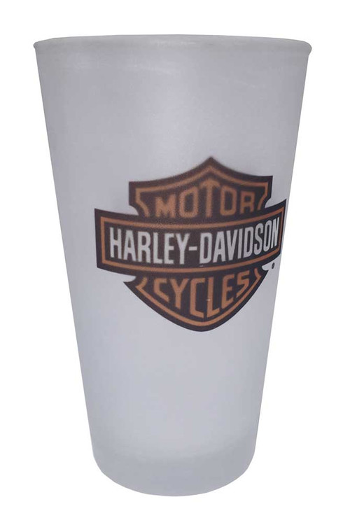 Harley-Davidson® Bar & Shield Logo Frosted Pint Glass, 16 oz. HD-BSS-1780