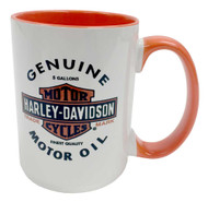 Harley-Davidson® Genuine Motor Oil Bar & Shield Coffee Mug, 15 oz. HD-GMO-1772BO