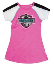 Harley-Davidson® Little Girls' Glittery Bar & Shield A-Line T-Shirt Dress 9031649