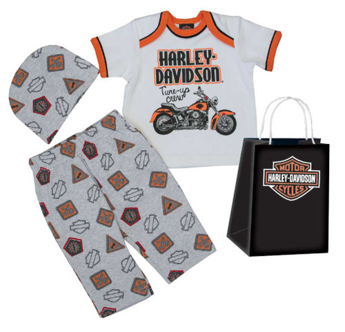 Harley-Davidson® Baby Boys' Motorcycle 3 Piece Gift Set w/ Gift Bag 2551629