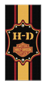 Harley-Davidson® Bar & Shield Transport Striped Beach Towel, Black NW047204