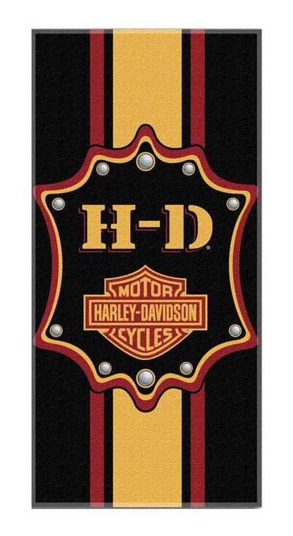 Harley-Davidson® Bar & Shield Transport Striped Beach Towel, Black NW047204