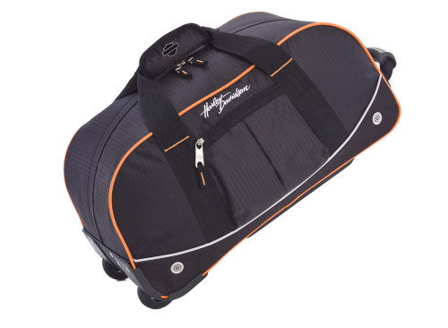Harley-Davidson® 35'' Wheeling Packaged Duffel, Black/Orange 99613 - A