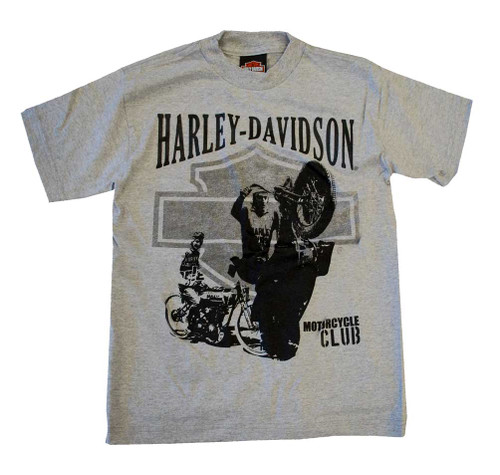 Harley-Davidson® Big Boys' Motorcycle Motor Club Tee T-shirt Heather Grey 0294190