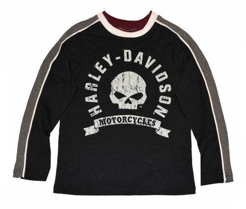 Harley-Davidson® Big Boys' Shirt, Willie G. Skull Long Sleeve Jersey 4391578