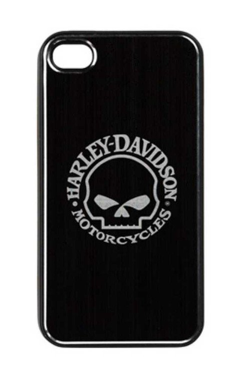 Harley-Davidson® Aluminum iPhone 4/4s Shell Etched Willie G. Skull Black 07436