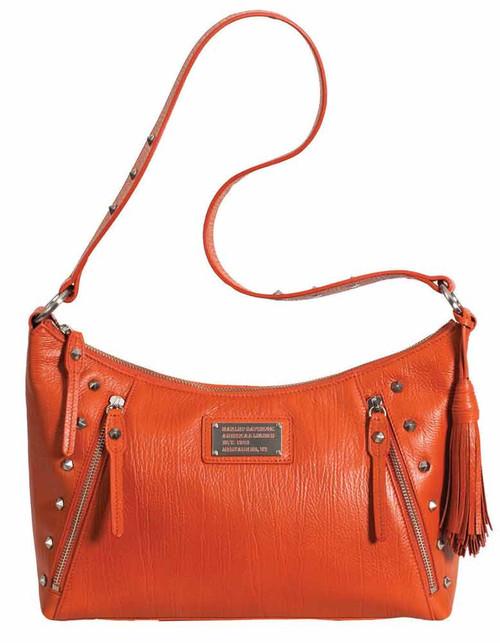 Harley Davidson Womens All Bark Orange Shoulder Bag AB77331L-ORG