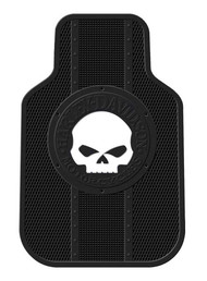 Harley-Davidson® Floor Mats Willie G Skull Universal-Fit Front Set of 2 Mats 1476