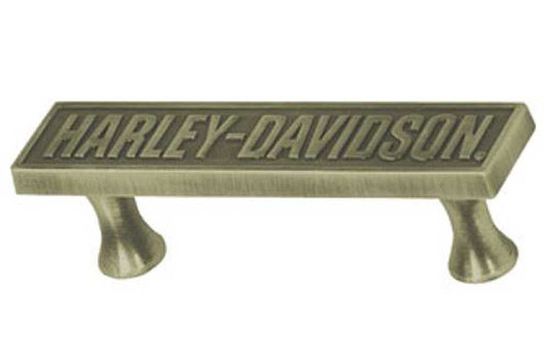 Harley-Davidson® Bar Font Pull Hardware, Antique Brass HDL-10127