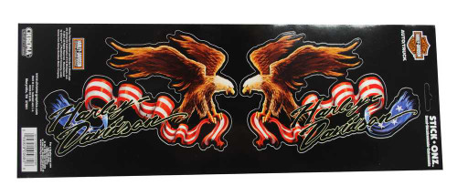 Harley-Davidson® American Eagle Ripped Flag Stick Onz Decal, 7 x 4.5 Inch CG5680