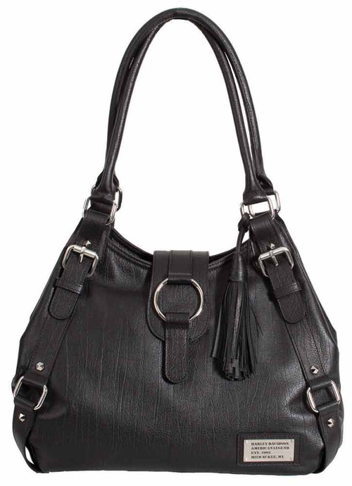 Harley Davidson Womens Black All Bark Bucket Bag AB7701L-Black