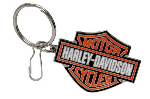 Harley-Davidson® Bar & Shield Logo Enamel Key Chain, Orange Logo 4232