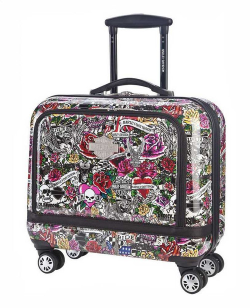 Harley-Davidson® 17 Inch Overnight Carry-On, Light Weight, Tattoo Print 99916-TAT - D