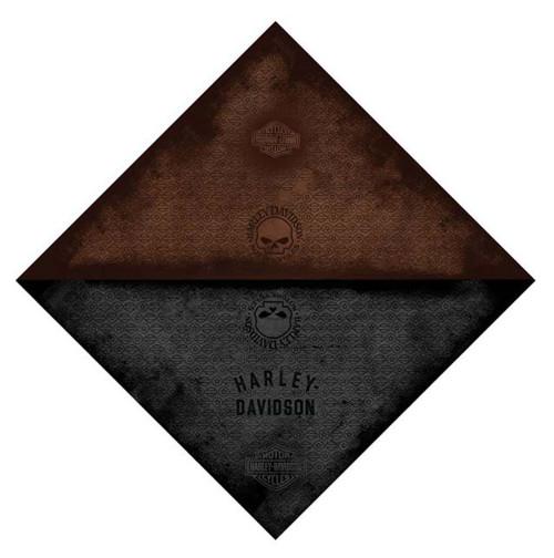 Harley-Davidson® Bare Bones Skull Two Tone Sided Bandana, 24'' x 24'' BA129480