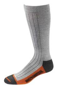 Harley-Davidson® Wolverine Men's Ribbed Wool Riding Socks, Gray D99051470-020