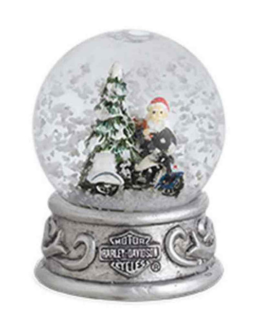 Harley-Davidson® 2015 Biker Santa with Trademark B&S Mini Snow Globe. 96817-16V - A