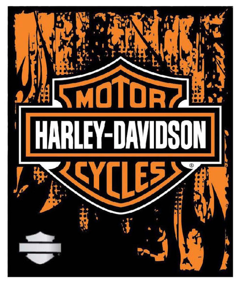 Harley-Davidson® 50 x 60 Bar & Shield Road Rage Fleece Blanket NW634770