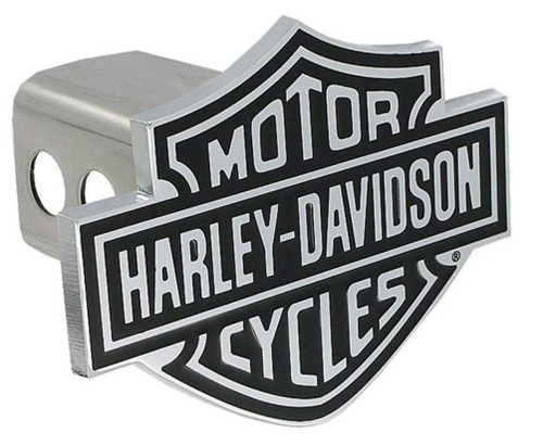 Harley-Davidson® Bar & Shield Trailer Hitch Cover 2'' Stainless Steel HDHC14