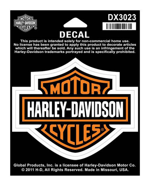 Harley-Davidson® Bar & Shield Medium Decal, 3-15/16'' W x 3-1/8'' H DX3023