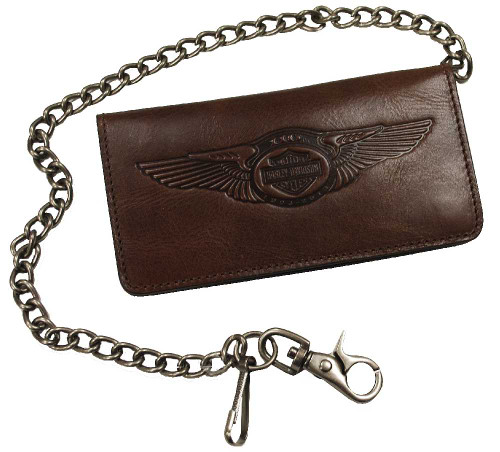 Harley-Davidson® 110th Anniversary Bi-fold Wallet Brown Leather AM1144L-Brown - A