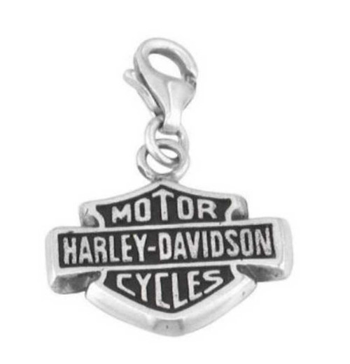 Harley-Davidson® Bar & Shield Sterling Silver Charm HDC0005