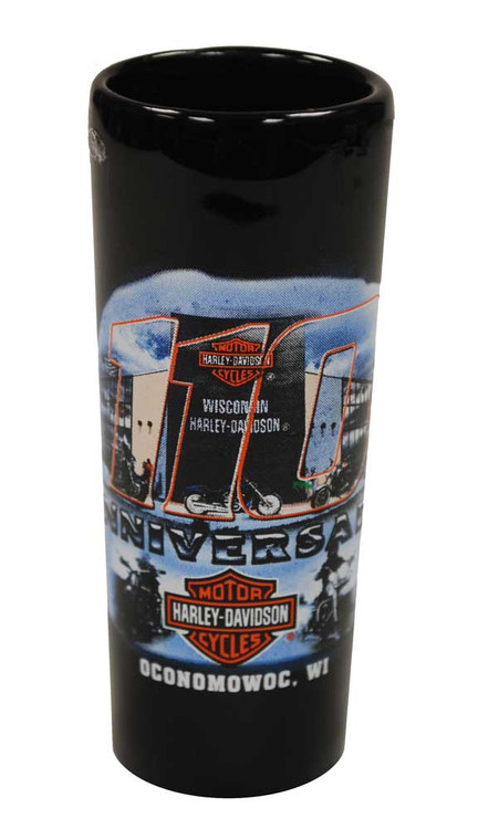 Harley-Davidson® 110th Anniversary Tall Shot Glass Black 110-SHOT