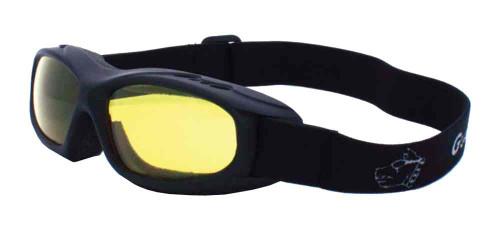 Guard-Dogs Evader I Motorcycle Dry Eye Goggles Golden Lens/Matte Black 054-13-01
