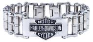 Harley-Davidson® Men's Bar & Shield Emblem Bike Chain Steel Bracelet HSB0146