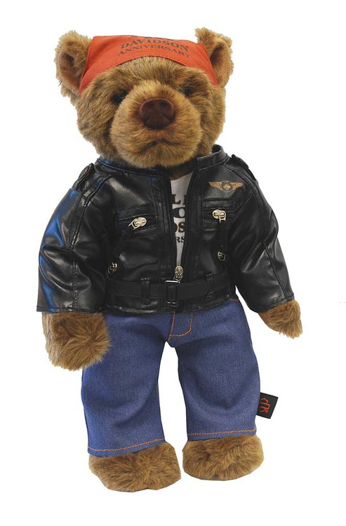 Harley-Davidson110th Anniversary Bear, Limited Edition Stuffed Biker Bear 20335 - C