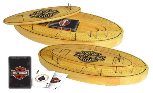 Harley-Davidson® Bar & Shield Cribbage Board Wooden 66901
