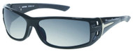 Harley-Davidson® Men's Black Rounded Rectangle Grey Lens Sunglasses HDS615BLK-3F