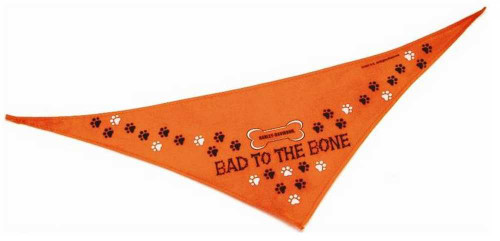 Harley-Davidson® Bad To The Bone Petite Pet Bandana 17'' Orange H2301-H-OB117