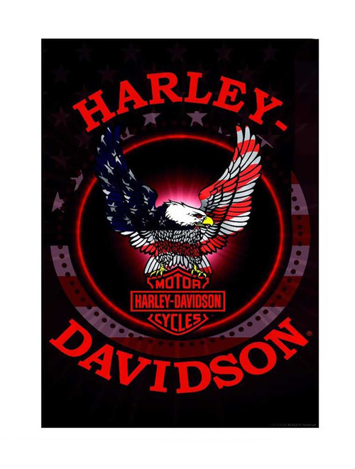 Harley-Davidson® Bar & Shield Patriotic Eagle Estate Flag, Black HD-HD-645579