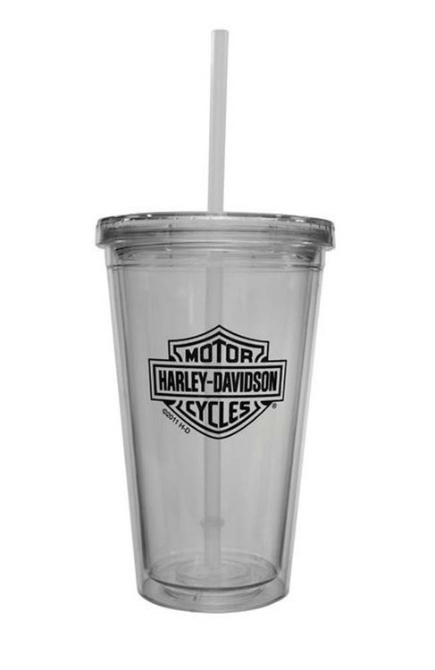 Harley-Davidson® Bar & Shield Auto Mug With Straw, 16 oz. MG30271