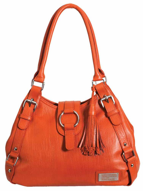 Harley Davidson Womens Orange All Bark Bucket Bag AB7701L-ORG