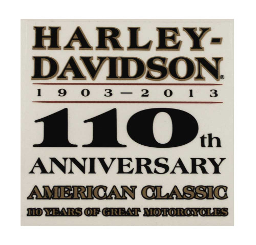 Harley-Davidson® 110th Anniversary Window Cling DC1282772