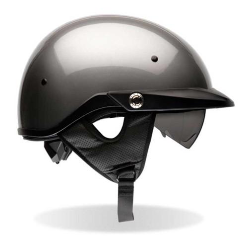 BELL Pit Boss Ultra-Light Motorcycle Helmet w/ Sun Shade Titanium Color 2033 - A