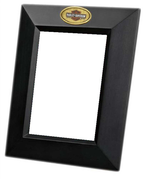 Harley-Davidson® Bar & Shield Portrait 4 x 6 Wooden Picture Frame HD-HD-849
