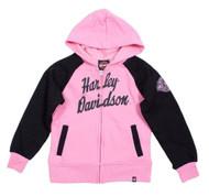 Harley-Davidson® Little Girls' HD Fleece Full-Zip Hooded Sweatshirt 0321588