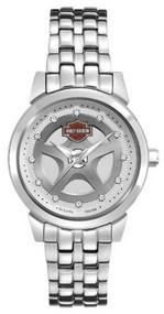 Harley-Davidson® Women's Bulova Crystal Bracelet Wrist Watch 76L160