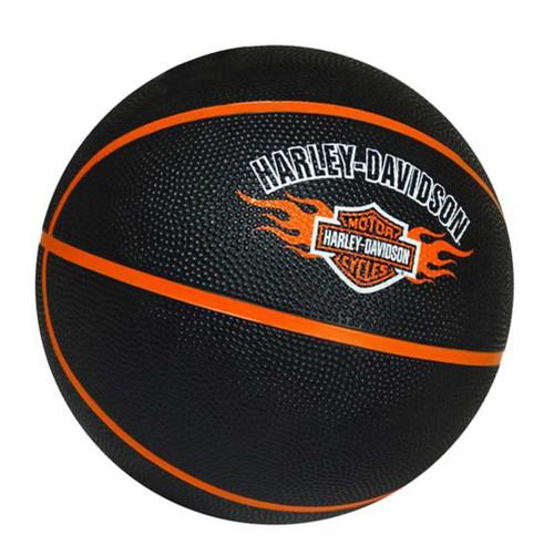 Harley-Davidson® Basketball, Bar & Shield Flames Logo, Full Size, Black 66444