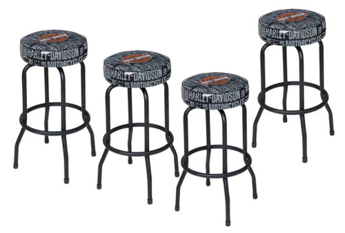 Harley-Davidson® Bar & Shield Repeat Bar Stool HDL-12127, SET OF 4 - A