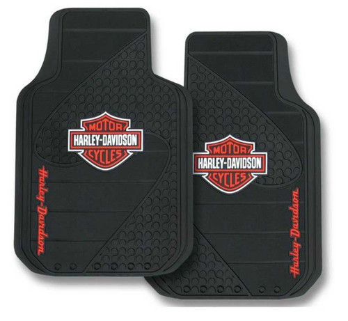 Harley-Davidson® Bar & Shield Factory Front Floor Mats Set of 2 Black P1384